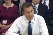 Jeremy hunt health committee 18 october