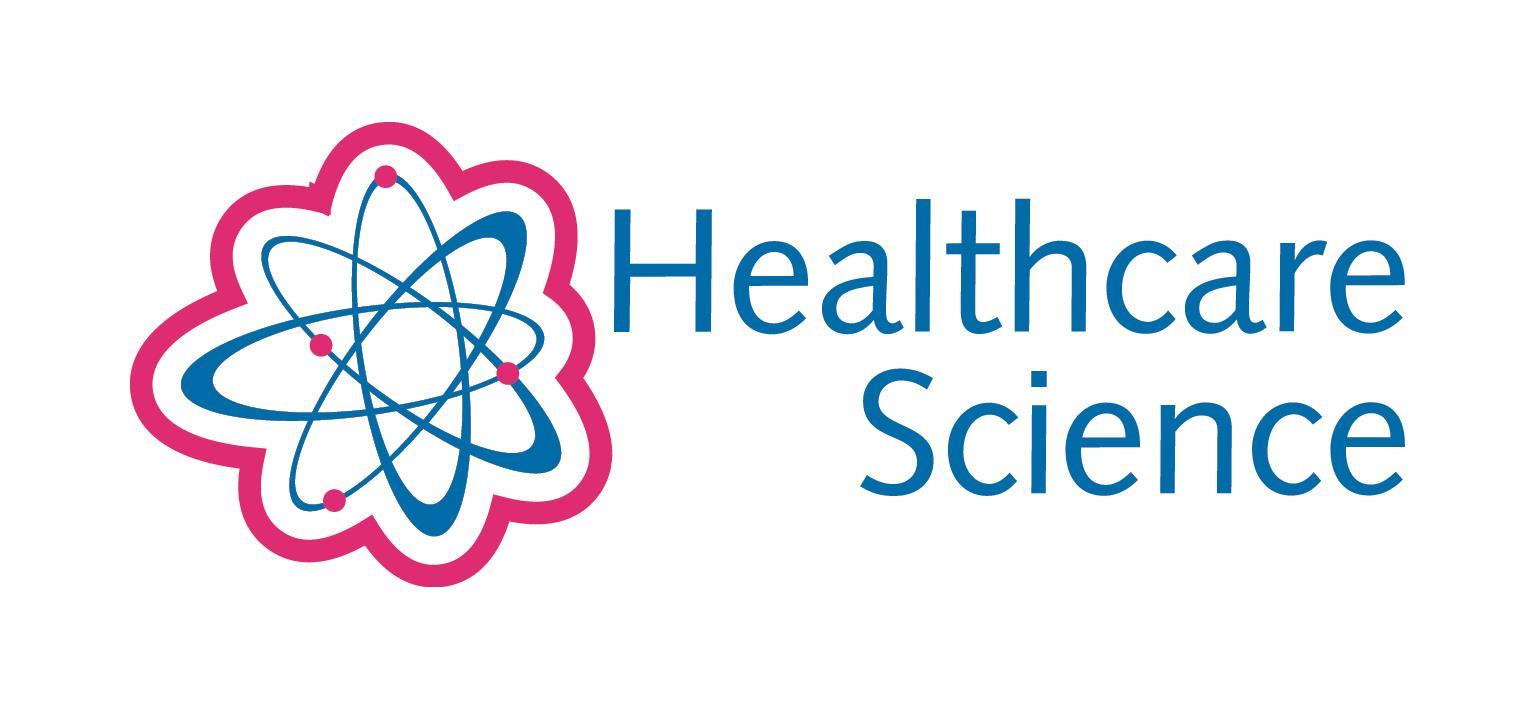 Healthcare Science banner with molecular graphic