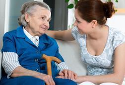 community services care worker elderly woman patient