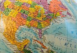 World map globe