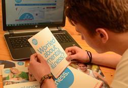 mental health depression carer teenager young person man boy information