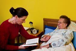community services woman carer care worker patient