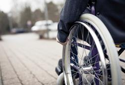 Wheelchair on pavement