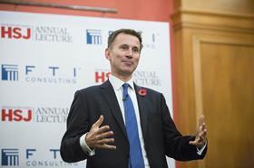 Jeremy Hunt HSJ lecture 2015
