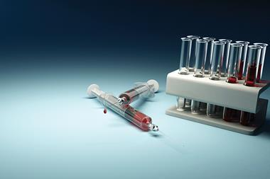 Syringes blood samples