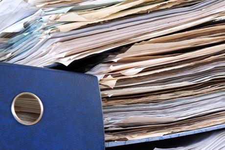 A big pile of paperwork