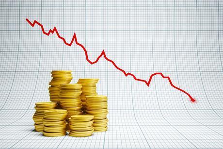 Deficit money coins graph