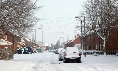 Snowy UK street