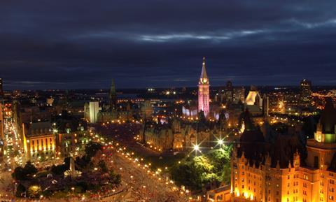 Ottawa cityscape at night