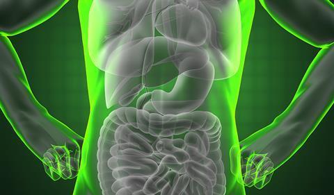 Illustarion of human liver