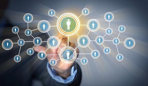 Social networking concept image