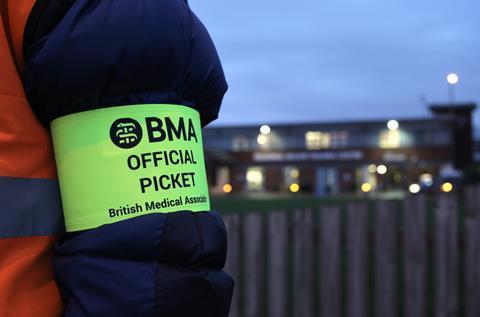 BMA picket line