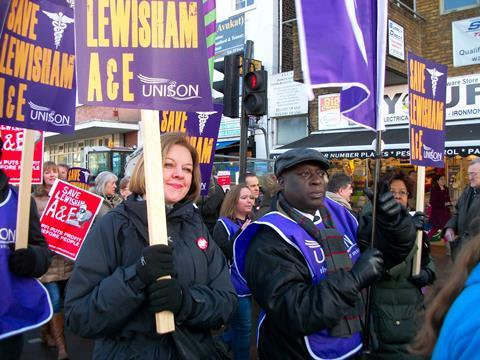 Lewisham hospital closure protest