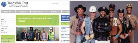 Lookey-Likey: Nuffield Trust and the Village People